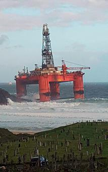 Undated handout photo of the Transocean Winner oil rig