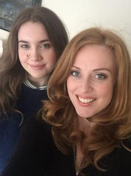 Clelia Murphy with daughter Clarabelle