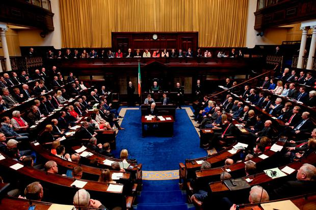 The first sitting day of the 32nd Dáil in Leinster House Photo: Maxwell's