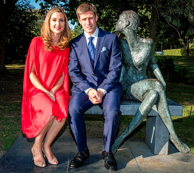 Sport and style ambassadors Ronan and Jessica O'Gara at the launch of the Longines Irish Champions Weekend 2016 at O'Reilly Hall, UCD Photo: Arthur Carron