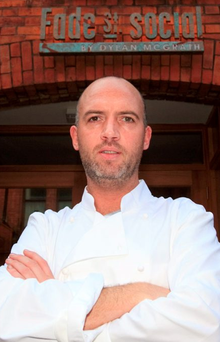 Celebrity chef Dylan McGrath's restaurant is back in business after a one-day closure Photo: Gareth Chaney Collins