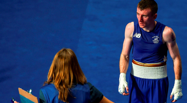 Paddy Barnes following his shock defeat by Samuel Heredia Carmona at the Olympic Games in Rio yesterday Photo: Stephen McCarthy/Sportsfile