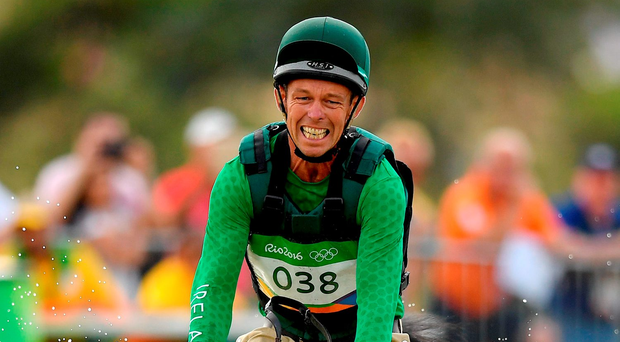 Jonty Evans on Cooley Rorkes Drift in the Three Day Eventing Cross Country. Photo: Sportsfile