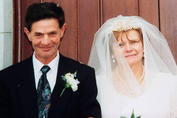 Chris and Ruth Pollock on their wedding day