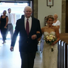 Jeni was walked down the aisle by Arthur, the recipient of her late father's heart Photo: KDKA-TV
