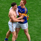 Ciarán McDonald, left, and George Hannigan of Tipperary