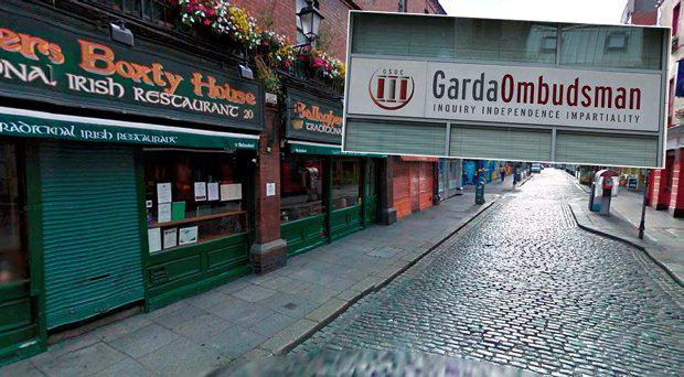 The Temple Bar Street with Gallaghers Boxty House