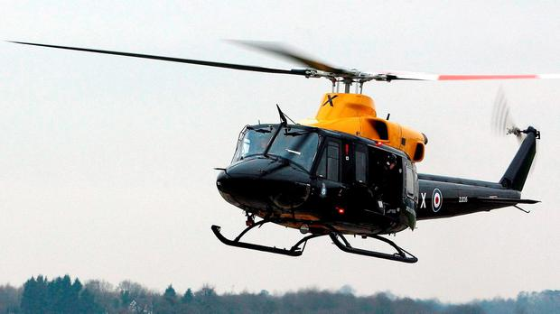 File photo dated 12/01/09 of a Griffin helicopter, as the Ministry of Defence said that a helicopter of the same type had been involved in an incident in Snowdonia