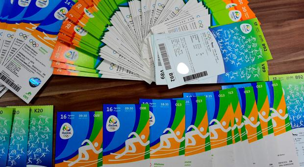 Fraudulent tickets seized by Brazilian authorities. AFP/Getty Images