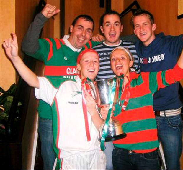 Ciaran Woods (back left) with brother John (back right) at GAA celebration