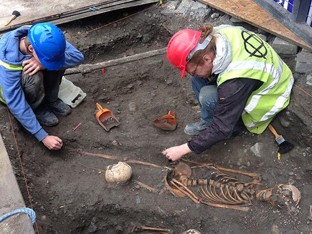 Four medieval skeletons have been discovered in Kilkenny city. Photo: Kilkenny County Council