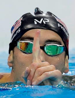 United States' Michael Phelps celebrates after winning the gold medal in the men's 200-meter butterfly final during the swimming competitions at the 2016 Summer Olympics, Tuesday, Aug. 9, 2016, in Rio de Janeiro, Brazil. (AP Photo/Michael Sohn)