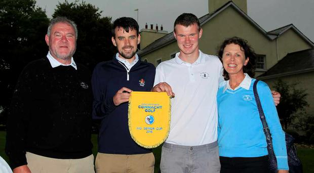 Stephen and David Brady at the AIG Connacht Senior Cup Final of the AIG Connacht Cups & Shields Finals 2016 at Ballinrobe GC. Photo: Golffile