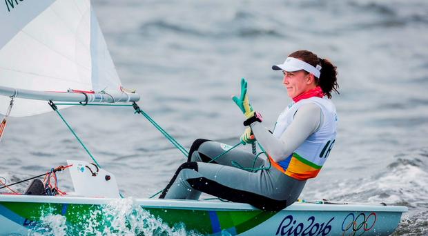 Irish sailor Annalise Murphy is now in the gold medal position after yesterday's race Photo by David Branigan/Sportsfile