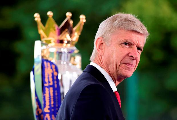 Arsene Wenger in thoughtful mood at a Premier League media event yesterday. Photo: Alex Broadway/Getty