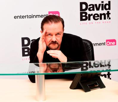 Ricky Gervais attending the world premiere of David Brent: Life On The Road at Leicester Square, London. Photo: Ian West/PA Wire