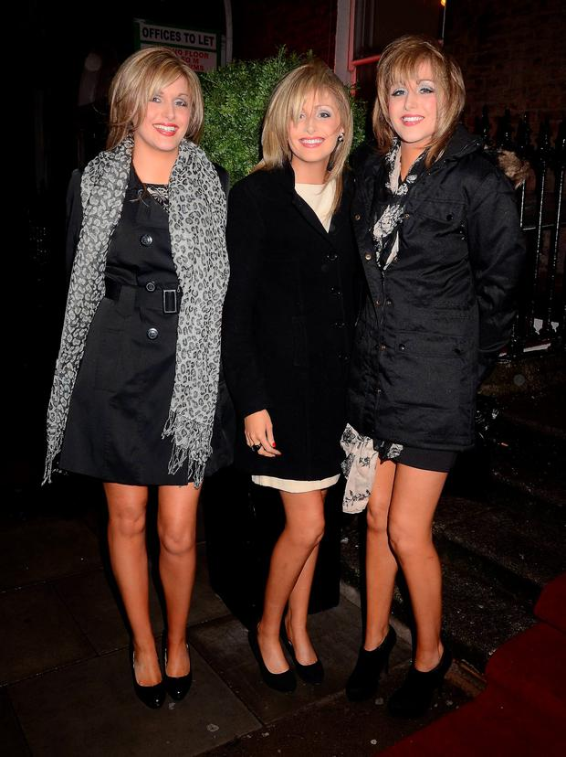 Nicola, Laura & Alison Crimmins at the Assets Model Agency Christmas Party 2011