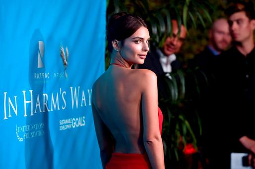 Model/Actress Emily Ratajkowski attends the special event for UN Secretary-General Ban Ki-moon hosted by Brett Ratner and David Raymond at a Private Residence on August 10, 2016 in Los Angeles, California. (Photo by Alberto E. Rodriguez/Getty Images for Arise Pictures)