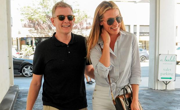 Cat Deeley is seen with her husband Patrick Kielty in Los Angeles