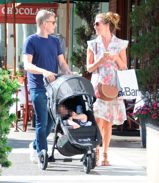 Cat Deeley and Patrick Kielty with their son