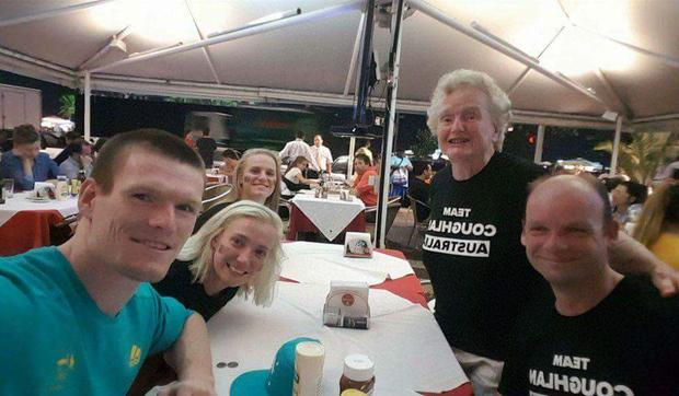 Pam Coughlan and family (including Eoin front left). Photo: Stephen Coughlan / Facebook
