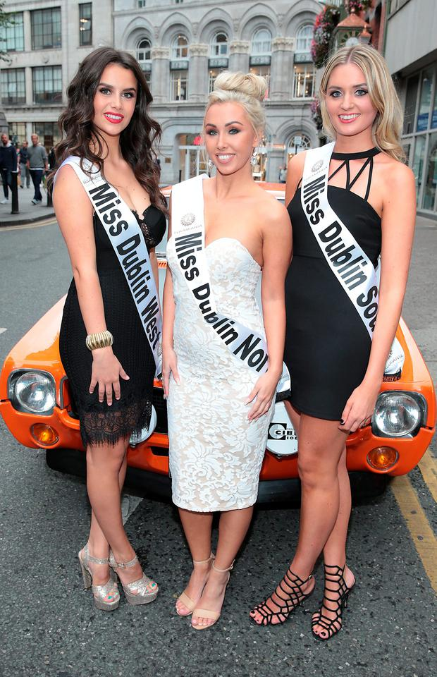 Jasmine Gerhardt, Carolyn Reilly and Emma Doherty pictured at the launch of Miss Ireland. Pictures: Brian McEvoy