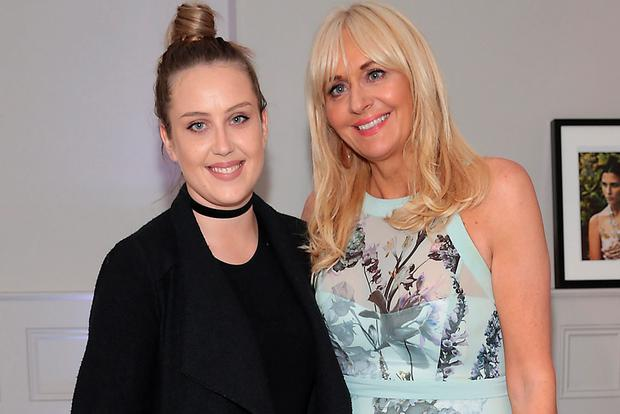 Miriam O'Callaghan (pictured with her daughter Clara McGurk) said staying at home and minding your kids is the hardest job in the world. Picture: Brian McEvoy