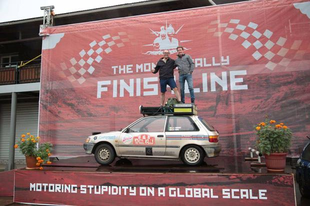 They travelled over 15,00km and were driving approximately 228 hours before they passed the finishing line.