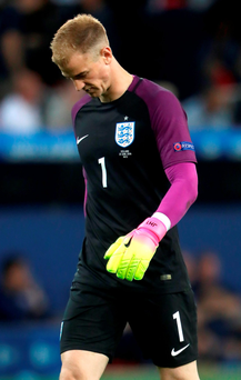 While Guardiola is ready to start the campaign with Joe Hart as his first choice in goal, there remain concerns over the England goalkeeper's ability to match the Spaniard's requirements in terms of distribution with his feet. Photo: Nick Potts/PA Wire