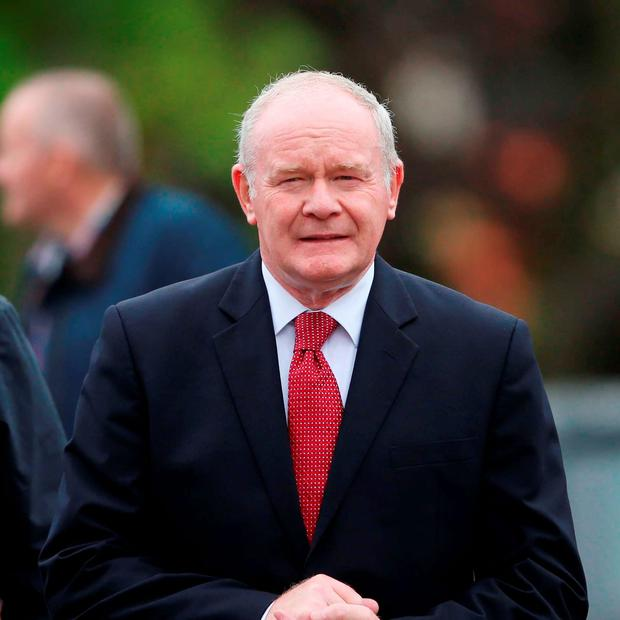 Deputy First Minister Martin McGuinness attending the funeral of Dr Edward Daly at St Eugene's Cathedral in Derry. Photo credit: Niall Carson/PA Wire