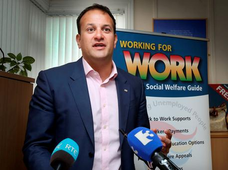 Social Protection Minister Leo Varadkar: Budget measure. Photo: Tom Burke