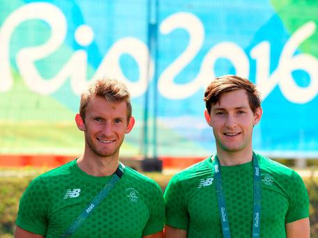 Rowers Paul O'Donovan, left, and his brother Gary. Photo by Brendan Moran/Sportsfile