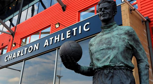 LONDON, ENGLAND - MAY 07: A statue of Sam Bartram outside the stadium before the Sky Bet Championship match between Charlton Athletic and Burnley at The Valley on May 7, 2016 in London, United Kingdom. (Photo by Catherine Ivill - AMA/Getty Images)