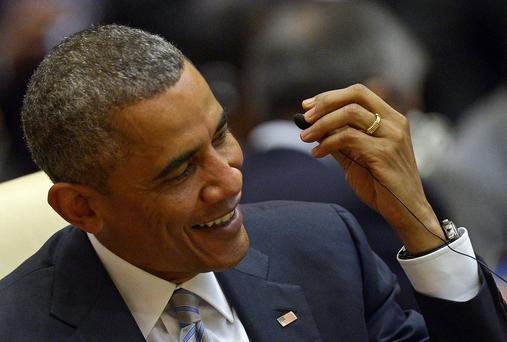 US President Barack Obama has released his Summer 2016 playlist. Photo: CHRISTOPHE ARCHAMBAULT/AFP/Getty Images)