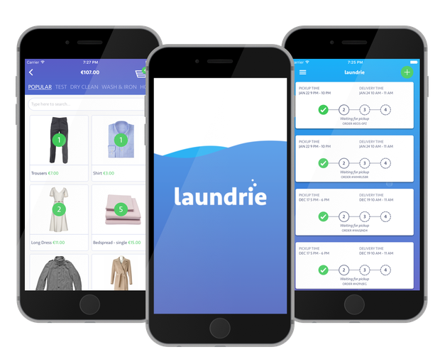 Donal Corkery tested out the new Laundrie app: Stock Image