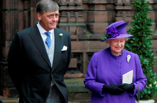 Gerald Grosvenor, the 6th Duke of Westminster, with Queen Elizabeth Picture: PA
