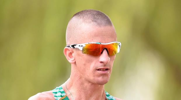 Rob Heffernan is doing 50km, which is even longer than a marathon. The amount of training you have to put in for 50km walk is phenomenal. Photo: Sportsfile