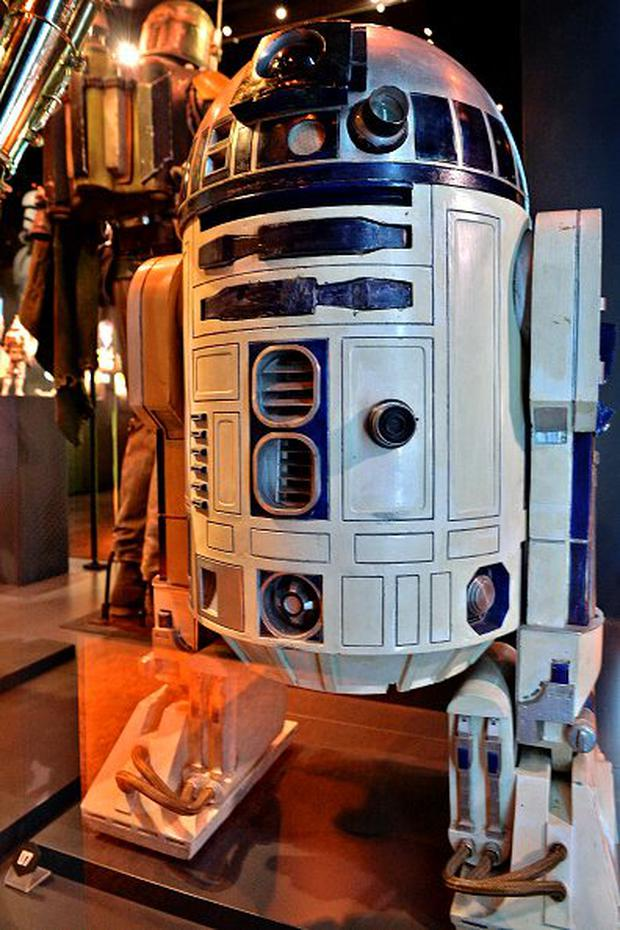 The costume worn by Kenny Baker as R2-D2 Photo by Sascha Steinbach/Getty Images