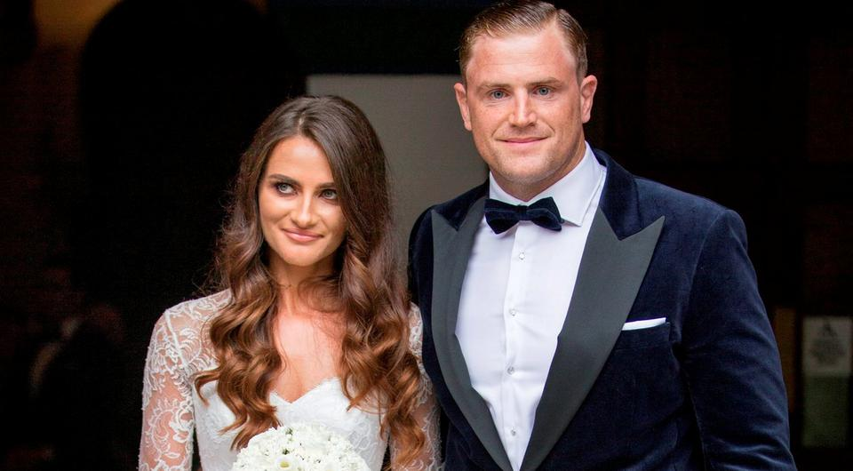 white wedding: newlyweds Sheena O'Buachalla and Jamie Heaslip. Picture by Fergal Phillips