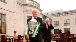 Liam Tuohy with the FAI Cup in 2007. Photo: Sportsfile