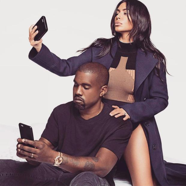 SELF-PROMOTION: Reality-TV star Kim Kardashian and her husband, rapper Kanye West, bolster their fame via social media