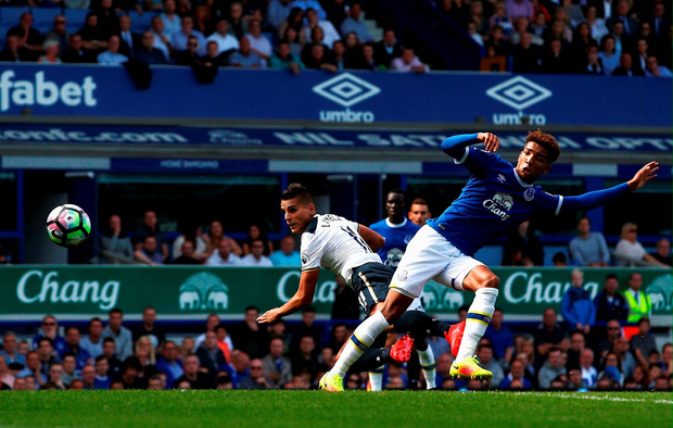 Erik Lamela of Tottenham Hotspur scores his sides first goal. Photo: Getty
