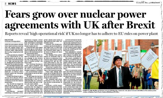 FLASHBACK: Story in Sunday Independent two weeks ago