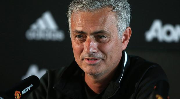 MANCHESTER, ENGLAND - AUGUST 12: Manchester United Manager Jose Mourinho answers questions from the media at a press conference following a first team training session at Aon Training Complex on August 12, 2016 in Manchester, England. (Photo by Matthew Peters/Man Utd via Getty Images)