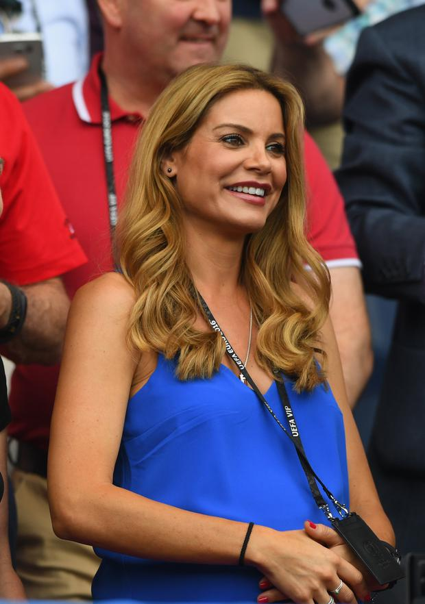 Charlotte Jackson, wife of Wales manager Chris Coleman looks on before the Round of 16 UEFA Euro 2016 match between Wales and Northern Ireland. (Photo by Stu Forster/Getty Images)