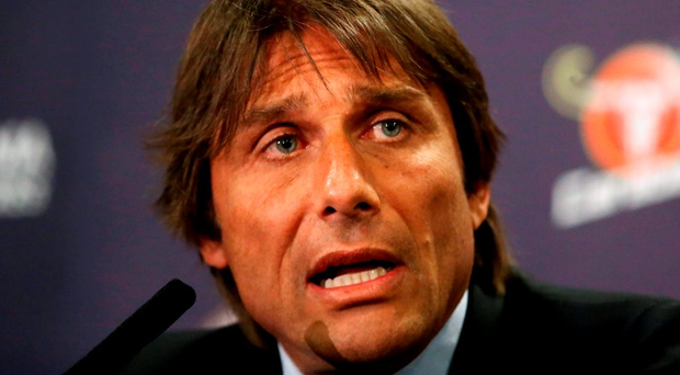 Antonio Conte takes charge of Chelsea in the Premier League for the first time tonight against West Ham. Photo: Steve Paston/PA Wire.