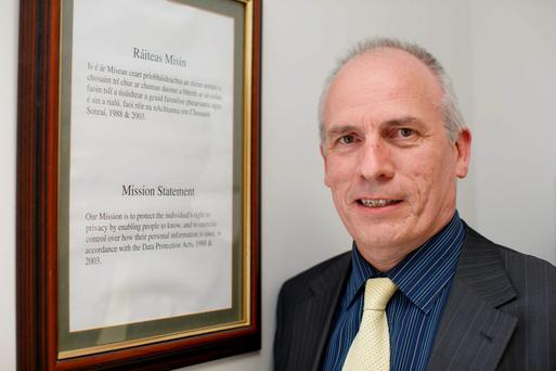 Assistant data protection commissioner Tony Delaney in his office at Portarlington. Picture: Alf Harvey/HRPhoto.ie