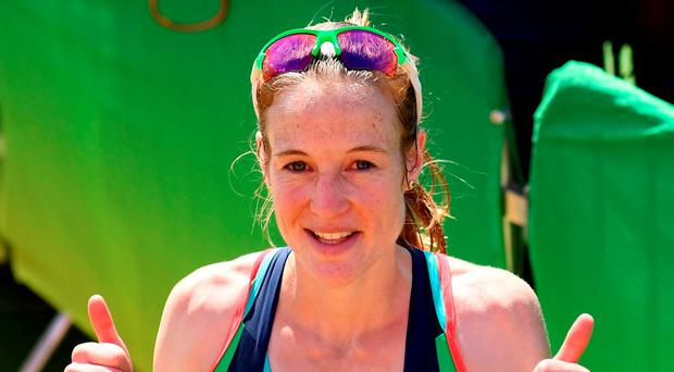 Fionnuala McCormack kept her pace when all around were losing theirs, eventually coming home 20th in the women's marathon. Photo: Sportsfile