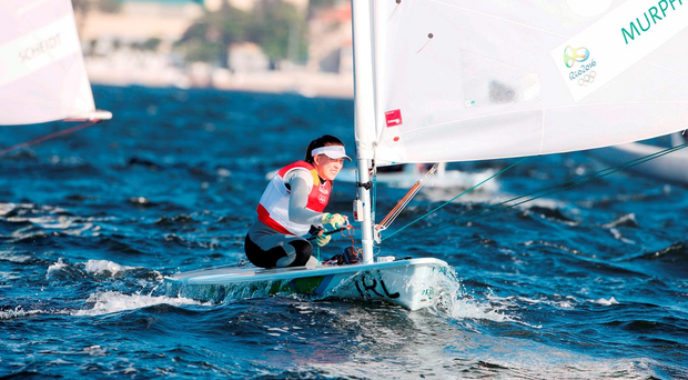 Annalise Murphy sits third going into today's medal race. Photo: Sportsfile