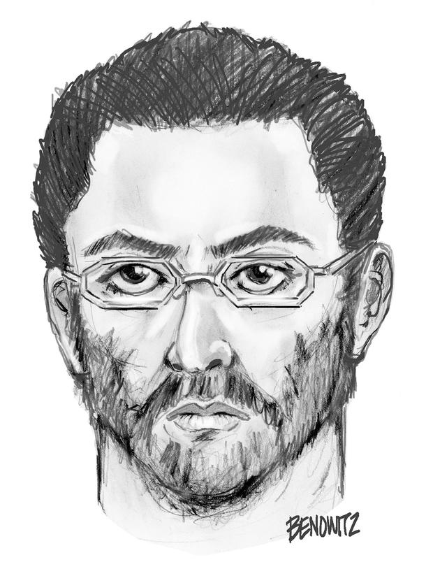 A police sketch of the suspect in the double murder Picture: NYPD/AP